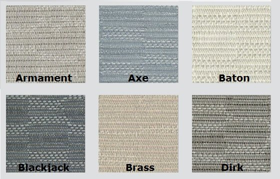 Color Options for Hatchet - Acoustic Fabric