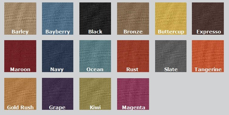 Color Options for Highbeams Acoustic Fabric