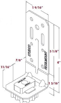 TMS Silent Clip A48R Dimensions