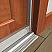 Adjustable Door Gasket with Neoprene Door Seal Applied on Wooden Door Frame Jamb with Door Bottom and Threshold