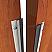 Aluminum and Neoprene Rubber Meeting Stile Applied on Interior Wooden Door, Open