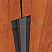 Dark Bronze and Neoprene Rubber Meeting Stile Applied on Interior Wooden Door