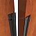Dark Bronze and Neoprene Rubber Meeting Stile Applied on Interior Wooden Door, Open