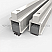 Clear Anodized Aluminum Adjustable Mortised Astragal for Soundproofing Double Doors