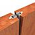 Adjustable Mortised Meeting Stile Applied on Interior Wooden Door