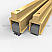 Gold Anodized Adjustable Mortised Astragal for Soundproofing Double Doors