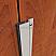 Aluminum with Sponge Neoprene Seal Meeting Stile Applied to Wooden Single Active Door, Closed