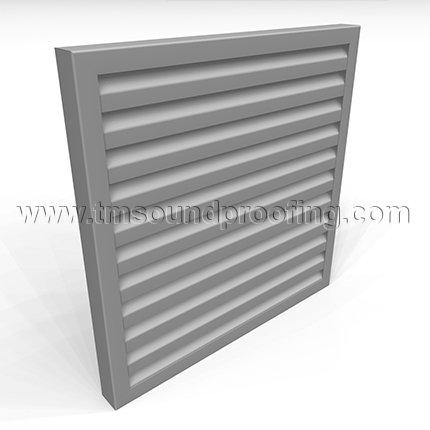 Free Flow Acoustical Louver, Cartridge Design 40Y/80Y