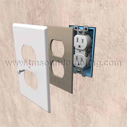 Air and sound seal for electrical light switch outlet for Sound proof wall padding