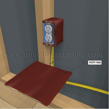 Acoustical putty pads trademark soundproofing for Sound proof wall padding