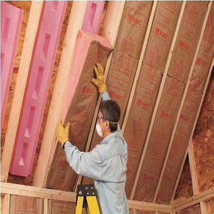 Owens corning r 30 ecotouch fiberglass insulation batts for Batt insulation sizes