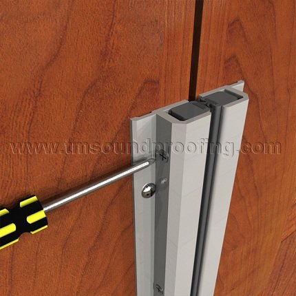 Adjustable Surface Mounted Astragal For Double Active Doors Tm Soundproofing