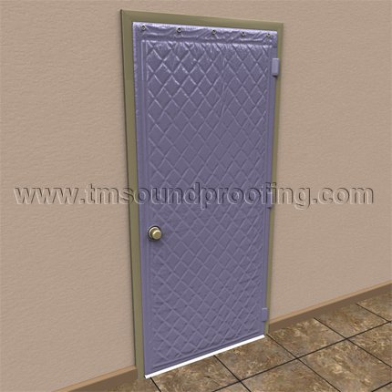 Sound control door panel door soundproofing for Sound proof wall padding