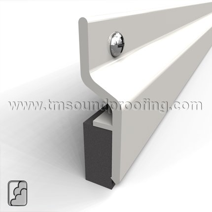 Single Astragal ...  sc 1 st  Trademark Soundproofing & Aluminum Meeting Stile for Soundproofing Single Active Double ...
