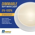 "Surface Mount LED Light, 4"" or 6"", Dimmable"
