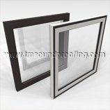 Acoustical Window and Door Lite Treatment