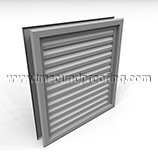 Free Flow Vision Proof Acoustical Louver - 200 STC