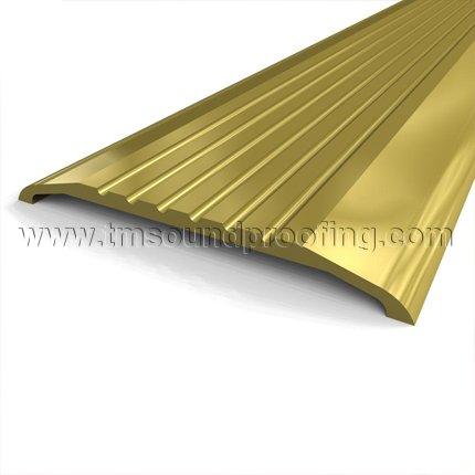 Utility Door Threshold ...  sc 1 st  Trademark Soundproofing & Aluminum and Brass Utility Doorway Threshold with 1/2