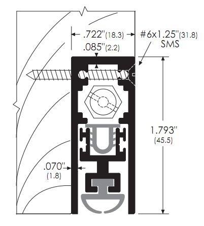Semi Mortised Automatic Door Bottom