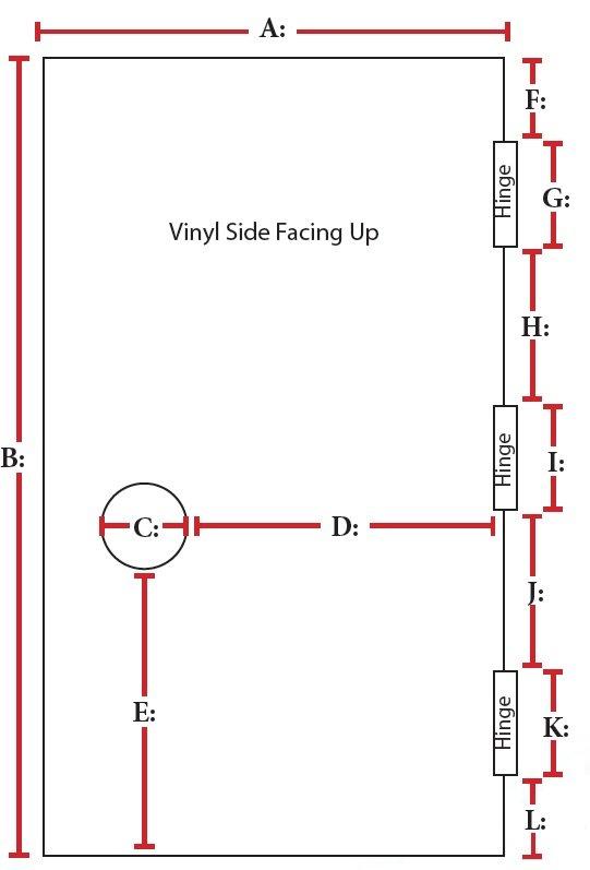 Door Panel Barrier Sample Template for Left Handed Doors
