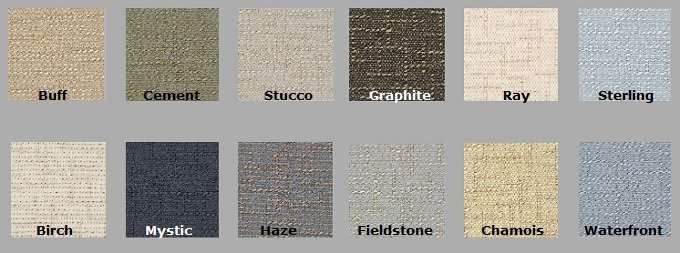 Color Options for Crosstown - Acoustical Fabric
