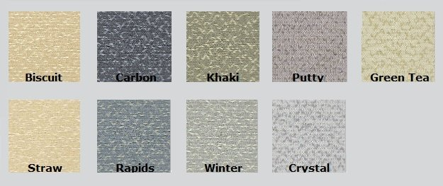 Color Options for Guilford of Maine Mingle Acoustic Fabric