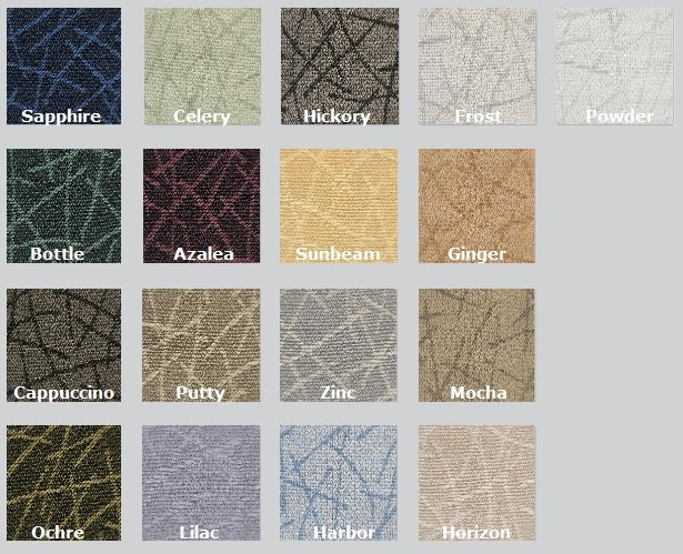 Color Options for Guilford of Maine Network Acoustic Fabric