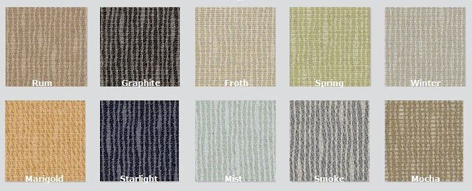 Color Options for Groove - Acoustic Fabric