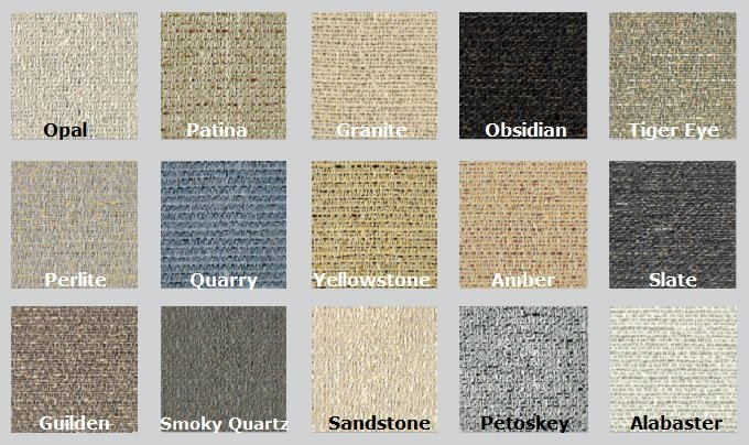 Color Options for Guilford of Maine Spinel Acoustic Fabric