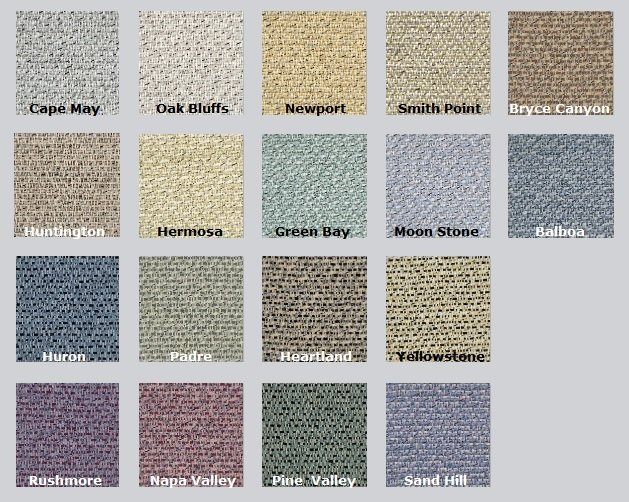 Color Options for Lido - Acoustic Fabric