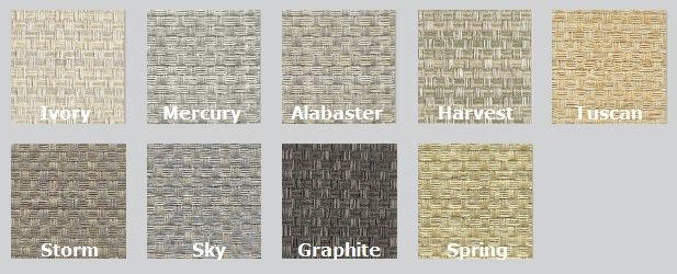 Color Options for Guilford of Maine Rattan Acoustic Fabric