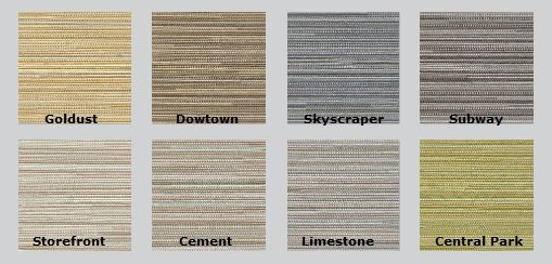 Color Options for Guilford of Maine Metro Acoustic Fabric
