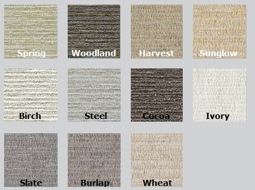 Color Options for Guilford of Maine Sand Acoustic Fabric