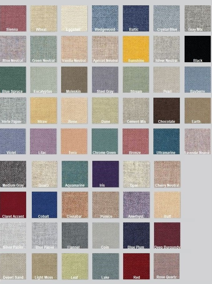 Color Options for Fabric Acoustic Wall Panel-High Impact