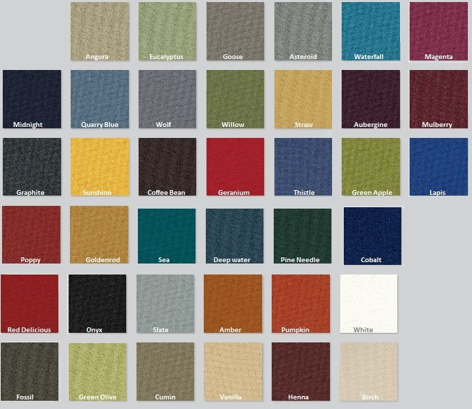 Color Options for Guilford of Maine Anchorage Products
