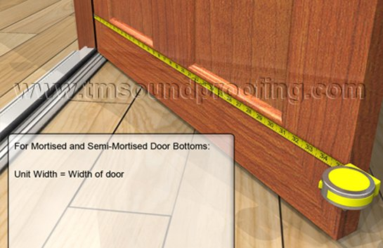 How To Measure for An Automatic Door Bottom - Semi-Mortised and Mortised