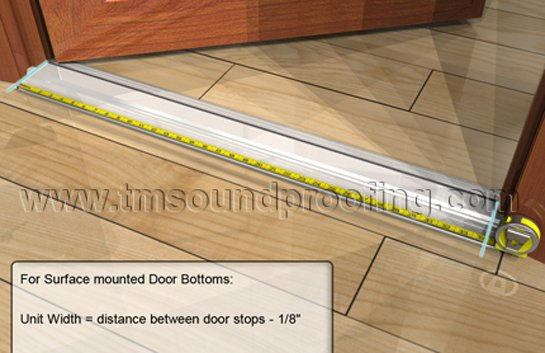 How to measure for an automatic door bottom guide brought