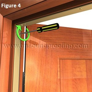 Soundproof Door Gasket For Head And Jamb Protection