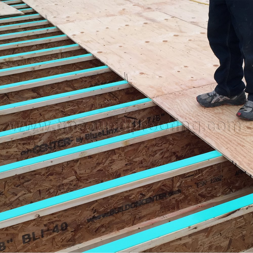 Soundproofing a Floor in New Construction with Gasket Tape