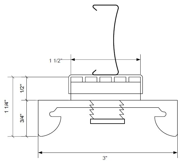 Rsic 1 5 Quot Cold Rolled Channel Clips For Decoupling Dropped