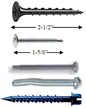 Required Screws for RSIC-DC04 Series Installation