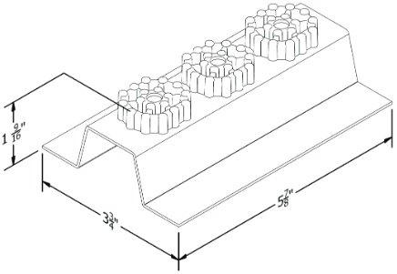 Resilmount A130R Dimensions