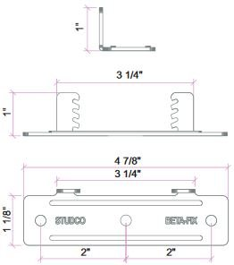 TMS Silent Brackets MBF Dimensions