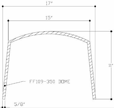 Tenmat 109-350 Light Cover Dimensions