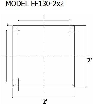 Tenmat 130-2x2 Dimensions