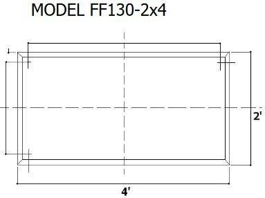 Tenmat 130-2x4 Dimensions