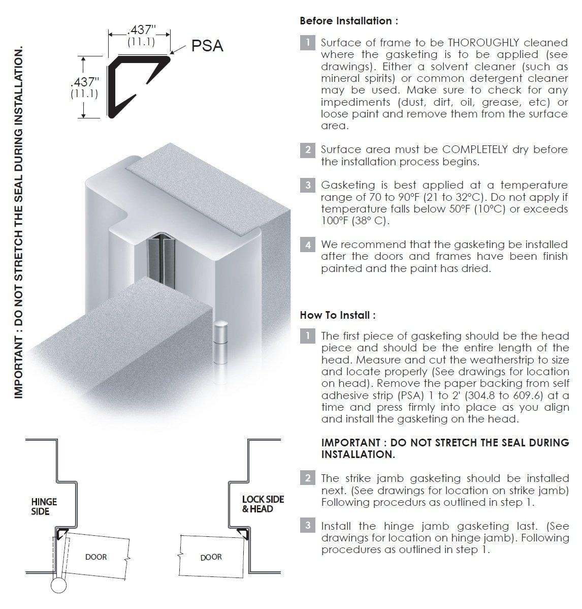 Installation Guide for Door Seal