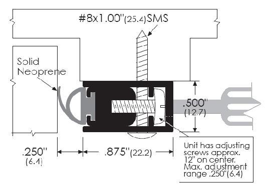 Adjustable Door Gasket for Soundproofing Projects