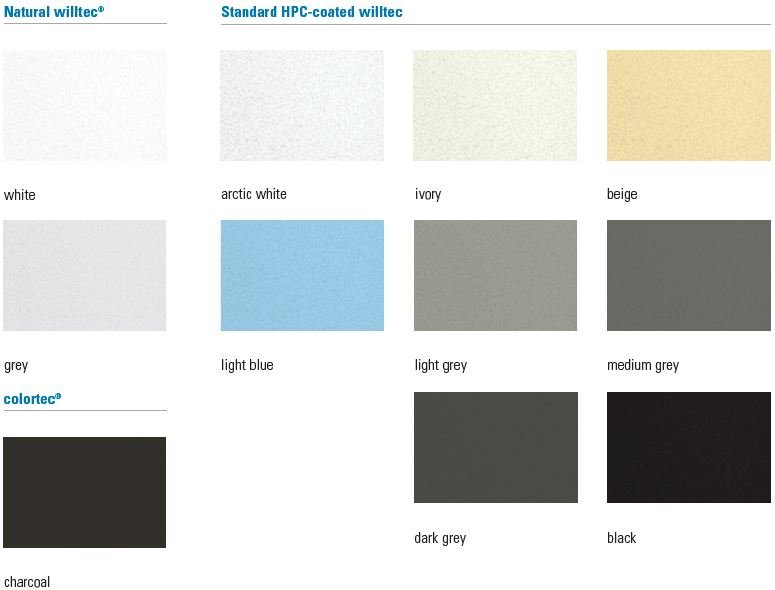 Color Options for Sonex Products