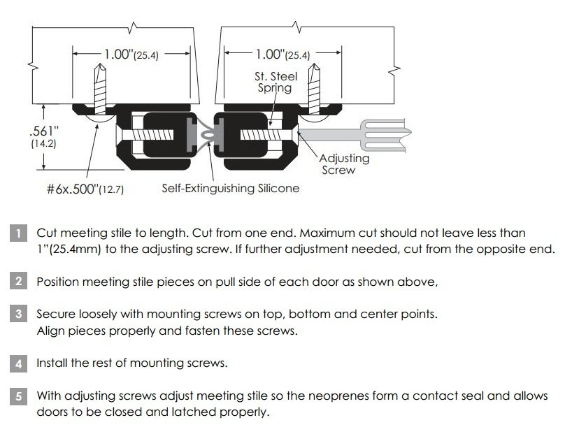 Installation Guide for Adjustable Meeting Stile